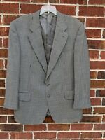 Ermenegildo Zegna Black Houndstooth 100% Wool Sport Coat Blazer 40 Suit Jacket