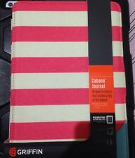 Griffin Cabana Journal Case for Apple iPad Mini - Pink & White Stripes