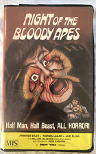 NIGHT OF THE BLOODY APES VHS  Clamshell GORGON VIDEO Rare Horror Gore Grindhouse