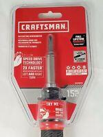 "CRAFTSMAN 15-Piece Bi-Material Handle Ratcheting 1/4"" Multi-Bit Screwdriver Set"
