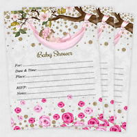Girl Baby Shower Invitations Girls Cards Invites Decorations Favors Qty of 20