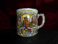 Vintage SILVER JUBILEE CUP King George V + Queen Mary 1910-35 Royal Memorabilia