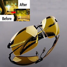New Men High-End Night Vision Polarized UV400 Driving Glasses Aviator Sunglasses