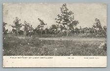 Field Battery—Light Artillery PINE CAMP New York—Antique WWI Army 1908