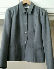 Ladies WALLIS Wool Mix Office Jacket. Size 12. Grey. Fully Lined. SALE!