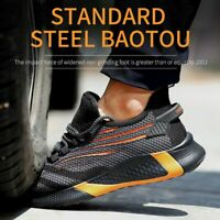 2020 Mens Safety Shoes Steel Toe Lightweight Work Boots Hiking Trainers Sneakers