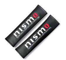 2Pcs Car Embroidery Nismo Sport Carbon Fiber For Seat Belt Cushion Shoulder Pads