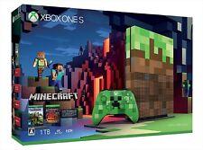 new Xbox One Console System S 1TB Minecraft Limited Edition JAPAN Microsoft Xone