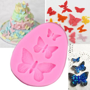 Butterfly Silicone Mould Fondant Cake Topper Mold Chocolate Candy Baking UK