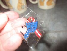 PASADENA California 9-11 BENEFIT 2002 PIN Red White Blue Ribbon FREE SHIPPING  o