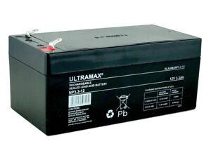 ULTRAMAX 12V 3.3Ah (2.8Ah) ALARM PANEL Battery