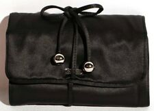 Coach Black Satin Jewelry Roll Travel Case NWT's F66561 Original $98  B2D