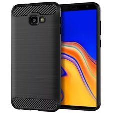 Samsung Galaxy J4+ PLUS Case✔Schwarz✔Premium Carbon Fiber✔Brushed✔Schutz Hülle