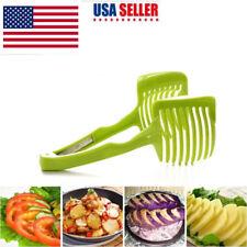 3X Potato Food Tomato Onion Lemon Vegetable Fruit Slicer Egg Peel Cutter Holder