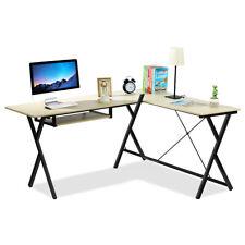 L-Shaped Computer Desk Corner Writing Desk PC Latop Table Gaming Workstation