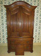Ethan Allen Royal Charter Oak Bonnet Top Armoire 16 5015