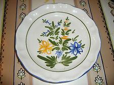 Assiette décor fleurs