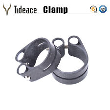 3K Glossy Carbon Fiber Bicycle Seatpost Clamp 31.8/34.9mm MINT Bike Clamps OEM