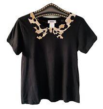 Tee-shirt SONIA RYKIEL col léopard - Taille S