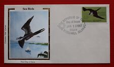 "Clearance - Marshall Islands (C16) 1987 Sea Birds Colorano ""Silk"" FDC"