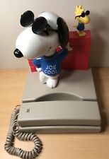 Vintage Peanuts Snoopy Joe Cool & Woodstock Touch Tone Phone Made By Seika.