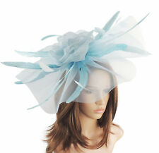Baby Blue Fascinator for Ascot, Weddings, Proms, Derby, Formal Events M7