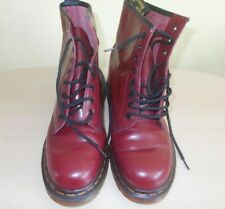 Dr Martens 1460 8 Hole Eyelet Cherry Red Boots Size UK 9 (Worn 2 - 3 Times)