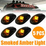 5x LED Cab Lights Smoked Amber Running Marker Parking Roof Top Truck 4x4 Pickup