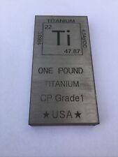1 (One) Pound Titanium Bullion Bar