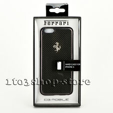 Ferrari Scuderia Real Carbon Aluminium Cover Case for iPhone 6 iPhone 6s (Black)