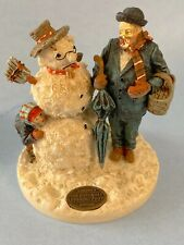 Saturday Evening Post - Snowman, Dad & Child - Christmas - Dept 56 / Lemax -