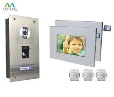 Fingerprint Video Türsprechanlage mit 2 x 7″ Monitor (weiß)