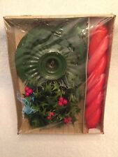 Emkay,Muench-Kreuzer,Stri pe 'N' Daisy,Candle,Set,Christma s,Vintage,Usa