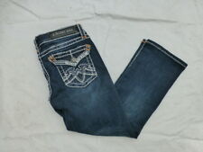 JUNIORS LA IDOL DENIM CAPRI JEANS THICK STITCH SIZE 1 #W3502