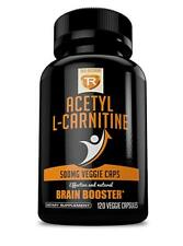 Acetyl L-Carnitine 500mg Extra Strength Supplement | 120 Vegetarian Capsules -