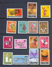 Singapore stamps 1968-1969 Dancers & Musical Instrument set to $10 Mounted mint