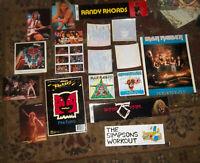 LOt of Vintage Heavy Metal Rock stickers Decals