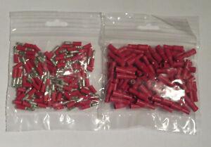 Rundstecker + Rundsteckhülsen Set isoliert M4 in rot 0,5-1,5mm² -200 teilig