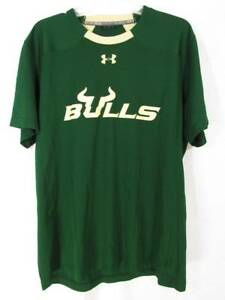 Under Armour South Florida Bulls Loose Shirt XL Heat Gear Green Beige Athletic