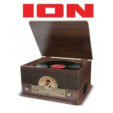 Ion Superior LP 7-in-1 Bluetooth Vinyl CD Casette Radio Digital Music System