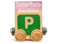 Timber Toots Name Trains Wooden Railway System Alphabet Preschool Toys Letter P