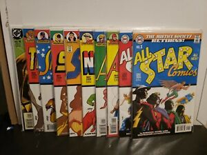 All Star Comics Set 1999 Signed Geoff Johns Justice Society 80 Page Giant