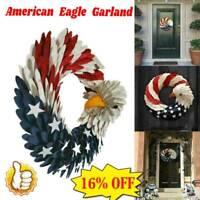 Americana Patriotic American Eagle Flag Wood Curl Wreath