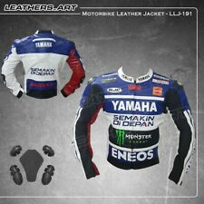 New Yamaha Motorcycle motorbike rider racing leather jacket LLJ-191(US 38-48)