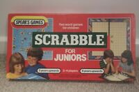 Vintage Spear's Games Scrabble For Juniors Boxed Board Game- complete