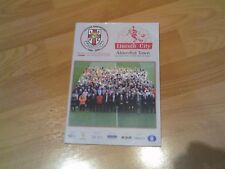 lincoln city v aldershot programme 2009/10 season with free postage