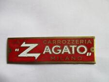 Scudo Zagato Targa Ì Alfa Lancia Aston S40 Arancione