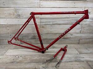 1980s Schwinn Traveler III Red road Bike Frame Fork Touring Bicycles Vintage