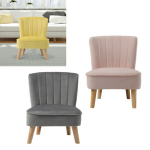 Luxury Velvet Small Sofa Bedroom Chair Home Cafe Lounge Bedroom Sofa Tub Chairs
