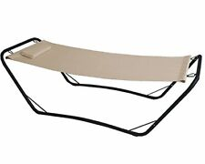 Hammock with Stand Java in steel and PVC 600d–Beige.